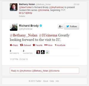 Richard Brody Tweet