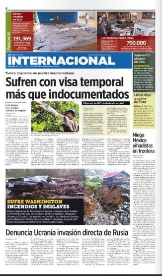 International newspaper article
