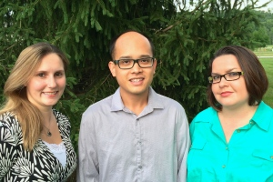 From left, study authors Annalise Loehr, Long Doan, and Lisa Miller